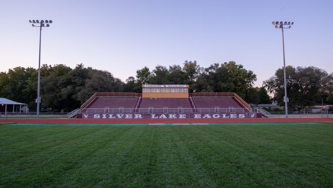 The football field at Silver Lake High School will remain empty as the first two weeks of the season were canceled due to COVID-19 outbreaks in the school.