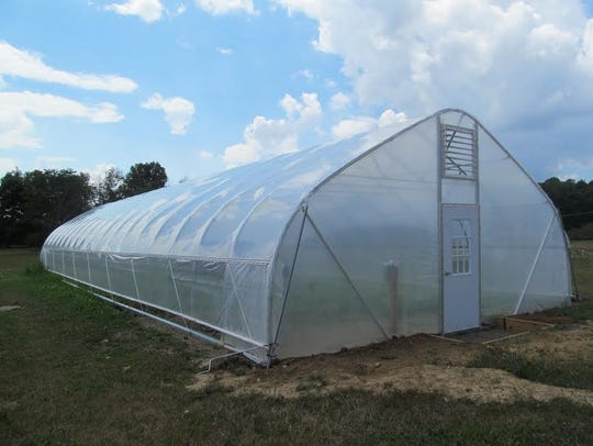 New to the farm this year is the Hoop House where the