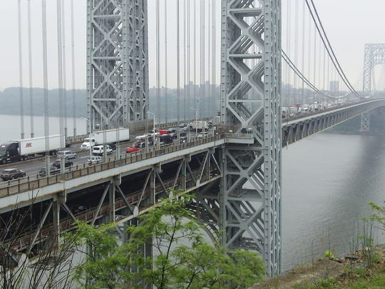 View of the George Washington Bridge from Fort Lee.