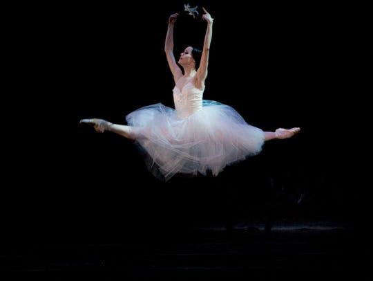 "Ballet Arizona dancer Natalia Magnicaballi in ""Giselle."""