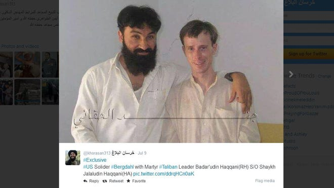This photo of a smiling Bowe Bergdahl has been circulating on Twitter.
