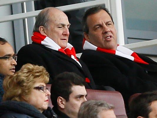 Chris Christie, Robert Barchi, Roy Hodgson, Gary Neville