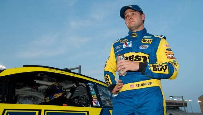 NASCAR Sprint Cup Series driver Ricky Stenhouse Jr. during qualifying for the Advocare 500 at Atlanta Motor Speedway.
