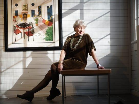 Ellen Roney Hughes Brown wears an Eileen Fisher velvet
