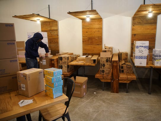 Earlier this week, staff at Stitch House Brewery were preparing the space for its March opening.
