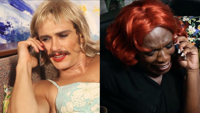 Hollywood actor James Franco and New York artist Kalup Linzy often dress in drag for their collaborative art videos and other projects.