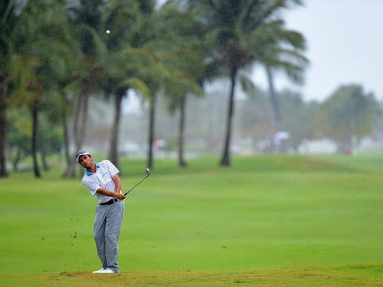 Middletown native  Ryan McCormick plays his third shot on the 18th hole during the first round of the Puerto Rico Open at Coco Beach on March 23, 2017 in Rio Grande, Puerto Rico.