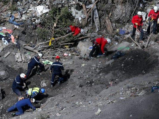 EPA FRANCE GERMANWINGS PLANE CRASH DIS TRANSPORT ACCIDENT FRA