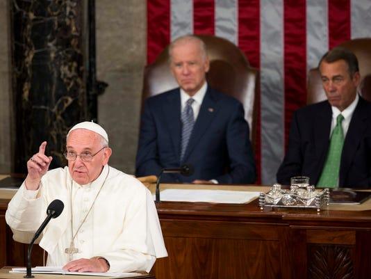 EPA USA POPE FRANCIS VISIT POL BELIEF (FAITH) DIPLOMACY USA DC