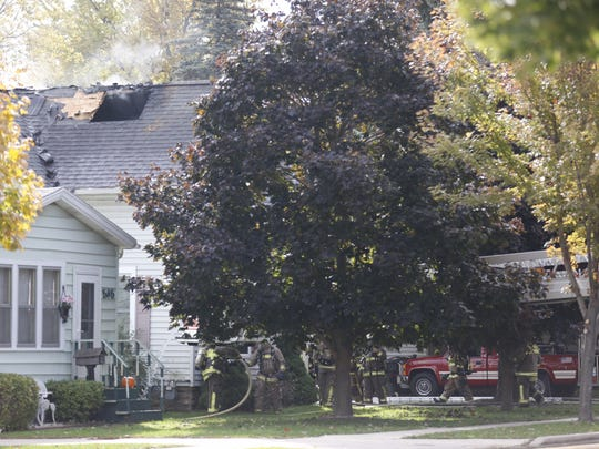 Multiple agencies responded to a house fire at 551