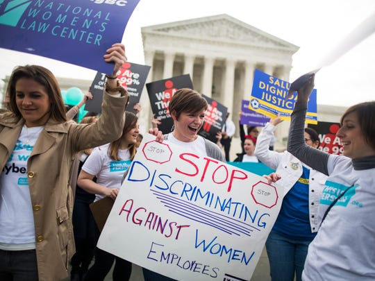 Women lobby in support of the Affordable Care Act's