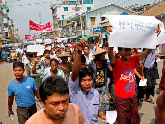 EPA MYANMAR RAKHINE PROTEST POL CITIZENS INITIATIVE & RECALL MYA