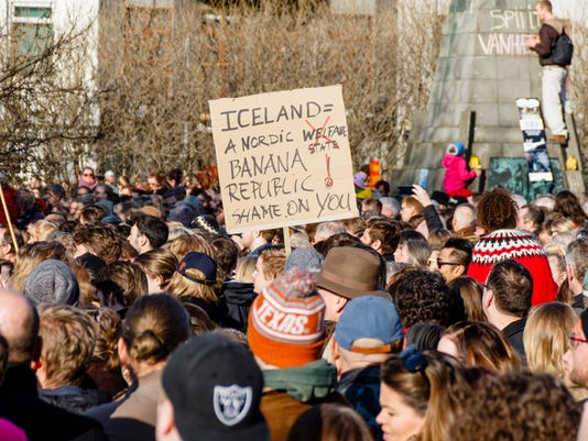 EPA ICELAND PROTEST PANAMA PAPERS POL CITIZENS INITIATIVE & RECALL ISL