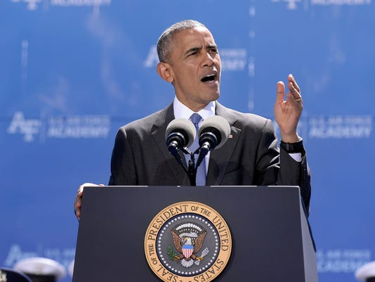 Obama speaks at Air Force Academy Graduation
