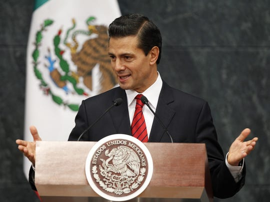 """Mexico's President Enrique Pena Nieto delivers a statement on Wednesday after U.S. voters elected Donald Trump as president of the United States. Trump has described Mexican immigrants as criminals and """"rapists,"""" promised during the campaign to build a wall on the U.S.-Mexico border and to overhaul the North American Free Trade Agreement."""