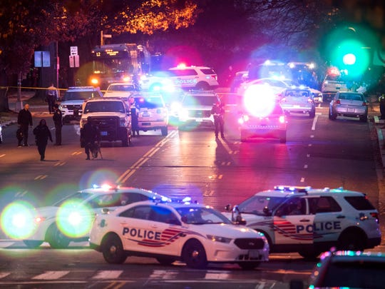 Police shut down Connecticut Avenue outside Comet Ping Pong on Dec. 4, 2016.
