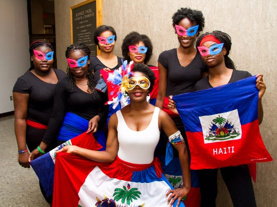 A performance group at the Haitian Heritage Month Celebration in May 2017 in Asbury Park.
