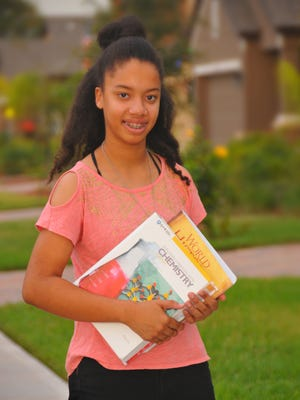Alyssa Watson, a Palm Bay 13-year-old, is just finishing her first semester at Eastern Florida State college. The homeschooled young woman wants to be an engineer.