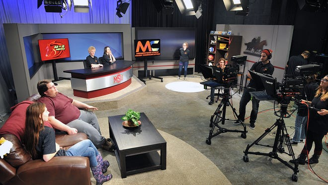 Students in broadcast journalism at Midwestern State University are enjoying the brand new mass communications building at the Fain College of Fine Arts.