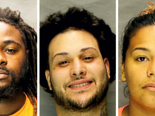 Xzavier S. Baker, Clifford Aponte, and Justine Sanchez, all of Lebanon, were arrested on drug charges.