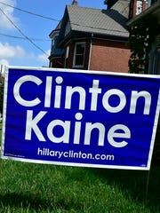 Hillary Clinton campaign signs have been targeted in yards, as have Donald Trump signs.