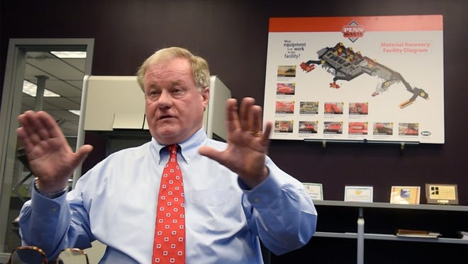 """Penn Waste has more than 380 employees and is estimated to have $65 million in revenue this year, but state Sen. Scott Wagner, the company's owner and president, emphasizes the risk: A terrible accident, he said, could """"wipe this company out."""""""