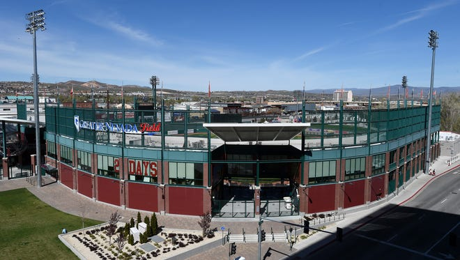 FILE PHOTO opening day is today at Greater Nevada Field. Greater Nevada Field on Tuesday April 5, 2016. Aces opening day is Thursday April 7th.