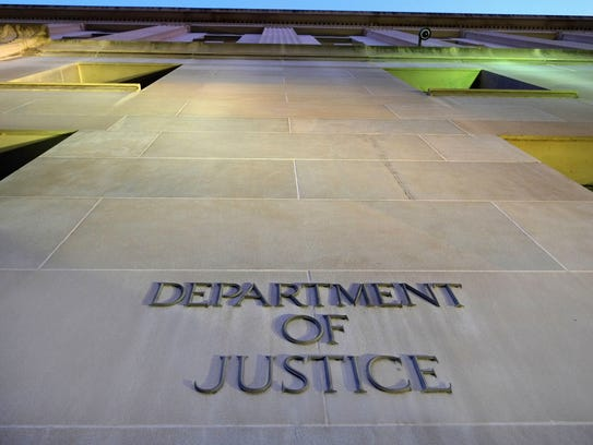 The Department of Justice headquarters building in