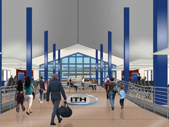 The Ithaca Tompkins Regional Airport will have six