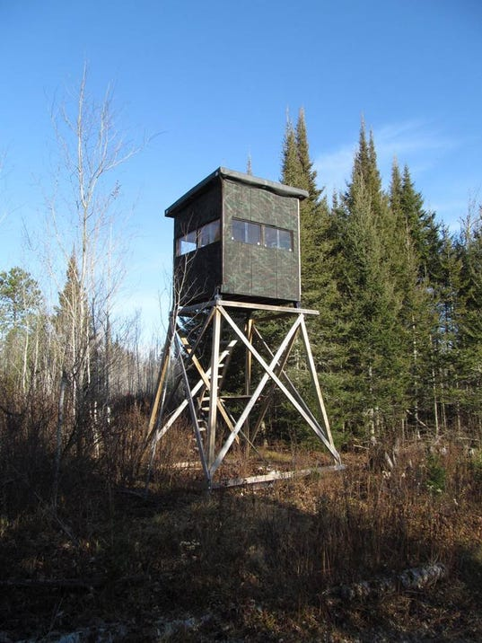 Ban on permanent deer stands in state forests discussed for Permanent tree stand