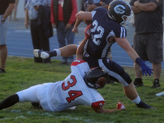 Camarillo's Carson Anderson played running back and