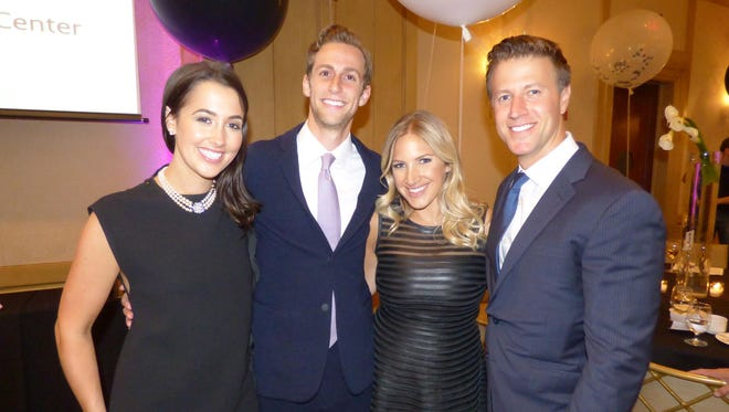 Detroit Legends Ball Event co-chairs Christine, who is also a Child Safe Michigan Board member, and David Colman; and Amanda Fisher and Ben Hubert of Bloomfield Hills.