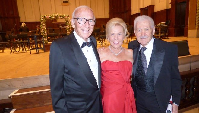 Heroes Gala Honorees John A. and Marlene L. Boll and their friend, Michigan Opera Theatre Founder and Retiring Artistic Director, David DiChiera.