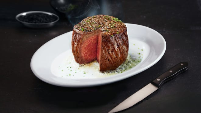 Filet mignon served at Ruth's Chris Steakhouse.
