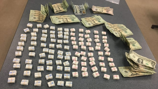 Heroin and cash were seized during a traffic stop and search Tuesday, Feb. 21, 2017, in Johnson City.