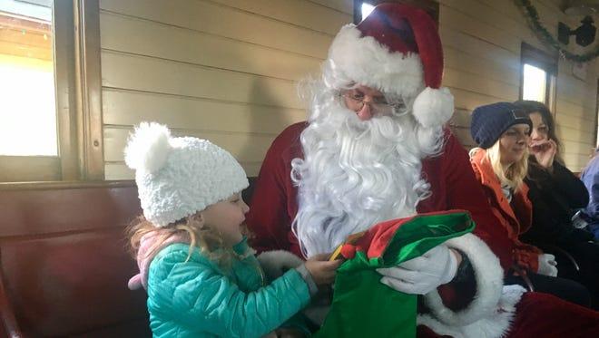 Children rode a special Santa train in Carson City on Sunday, Dec. 3, 2017.