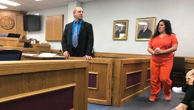 Josie Romero appears in court on August 1, 2018.