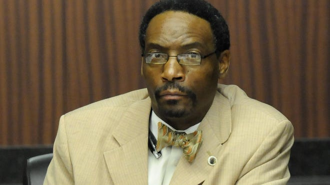 ASU trustee Marvin Wiggins attends a meeting of the Alabama State Board of Trustees.