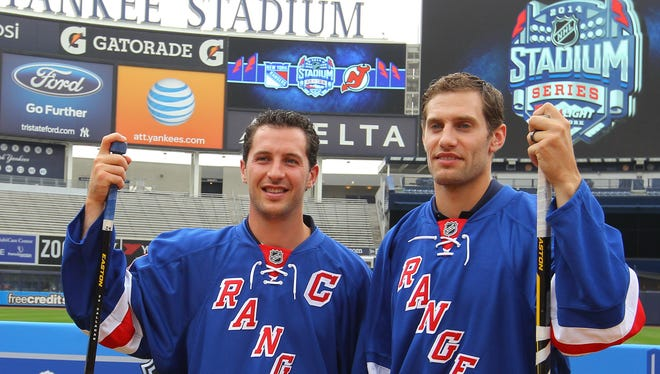 New York Rangers players Ryan Callahan, left, and Dan Girardi are unrestricted free agents at season's end.