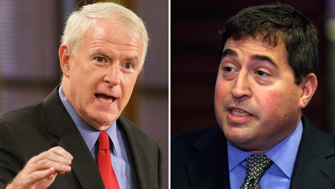 Milwaukee Mayor Tom Barrett (left) and Bucks President Peter Feigin.