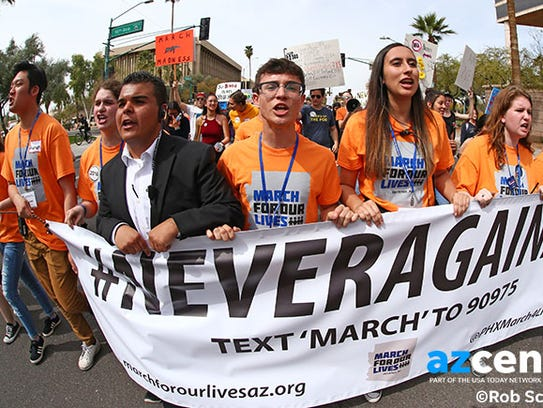 """March For Our Lives protesters demand """"their lives"""