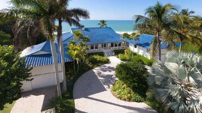 At $16.46 million, a 6,360-square-foot Gulf-front house on Gulf Shore Boulevard in Olde Naples took the No. 1 spot.