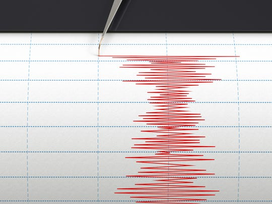 A seismograph instrument recording ground motion during an earthquake. A 2.7-magnitude earthquake struck parts of Northern Nevada early Thursday morning. It was reported on Dec. 26, 2019.