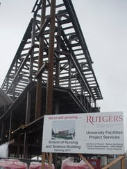 Construction continues on the Rutgers University-Camden