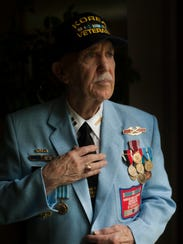 Retired Army captain Andy Jackson of Cherry Hill, seen