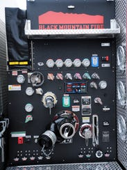 Above the pump controls on Black Mountain Fire Department's