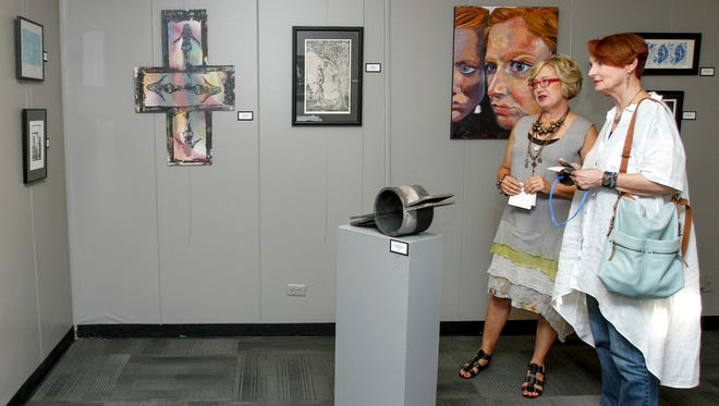 ULM College of Arts, Education, and Sciences host an art crawl on Thursday, September 10, 2015. The artwork of Louisiana at Monroe students and faculty was presented during a special exhibition in various campus locations.