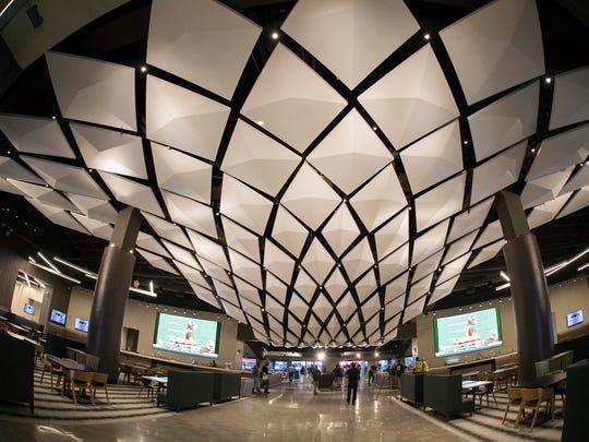 The Delta Sky 360° Club of Mercedes-Benz Stadium in