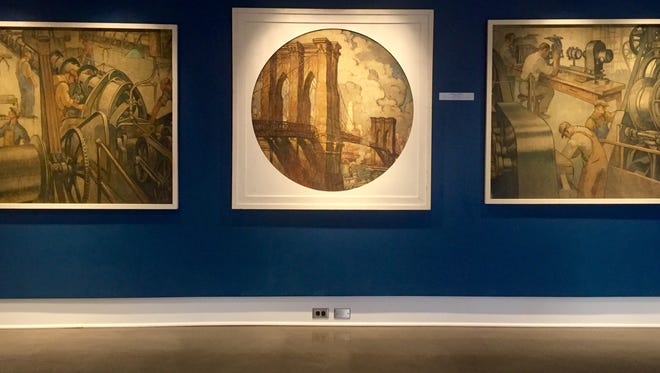 A group of paintings commissioned by the Roebling company for the 1939 World's Fair are being exhibited at the Roebling Museum through the end of the year.