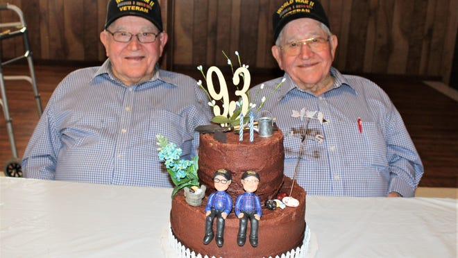 Twin brothers and WWII veterans Afled and Felix Till celebrated their 93rd birthday earlier this year at Sacred Heart Church in Rockne.